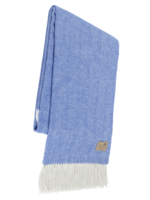 Lands Downunder Marina Blue Herringbone Throw