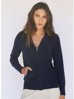 Oats Cashmere Dublin Navy Cashmere Hoodie