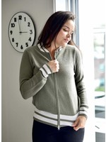 Oats Cashmere Quincy Moss Cashmere Zip Up