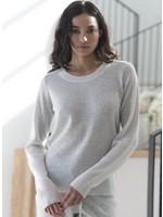 Oats Cashmere Ida Color Block Cashmere Sweater
