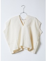Atelier Delphine Kinari Crinkled Cotton Celeste Top