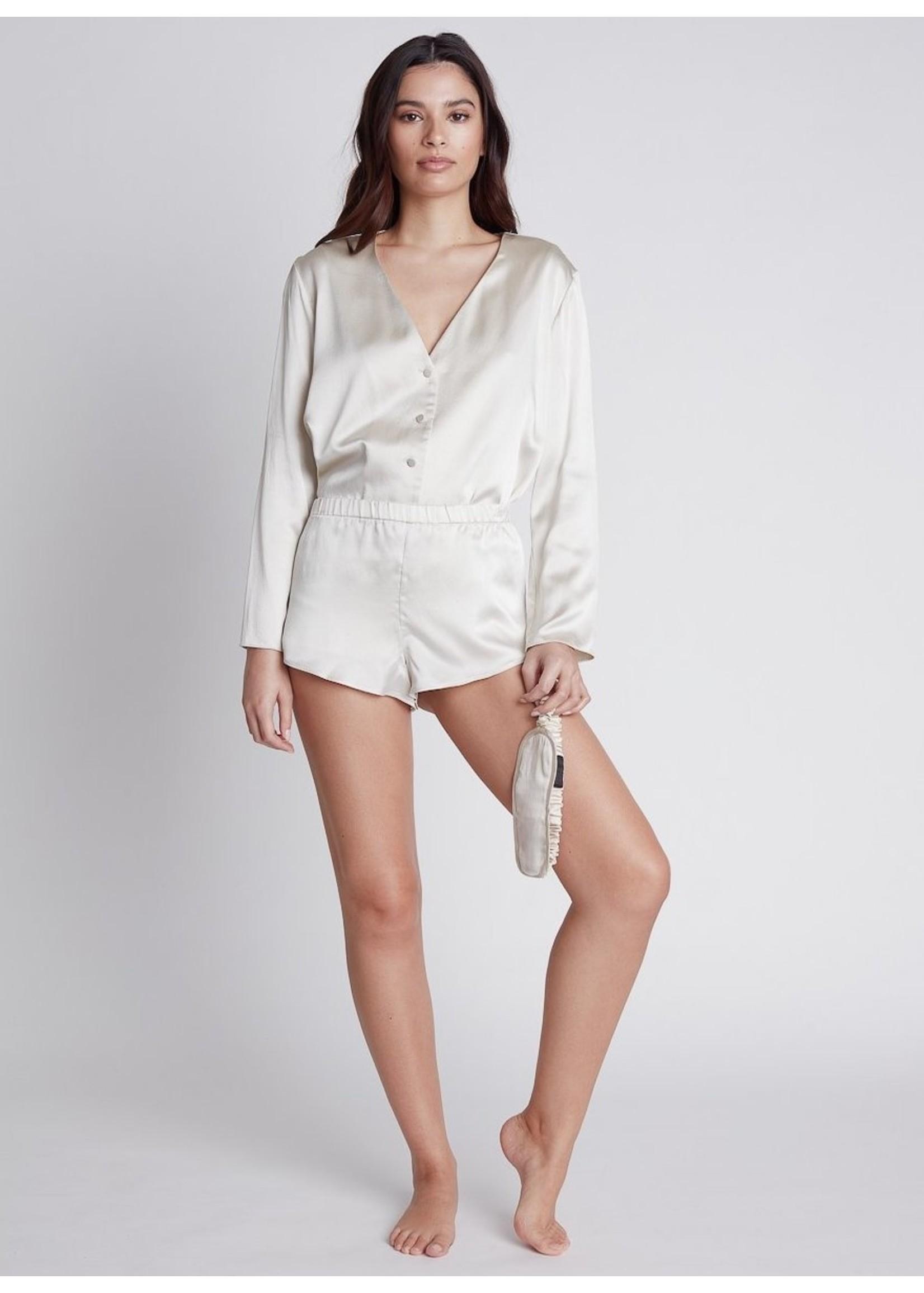 Nileta Silk Track Shorts