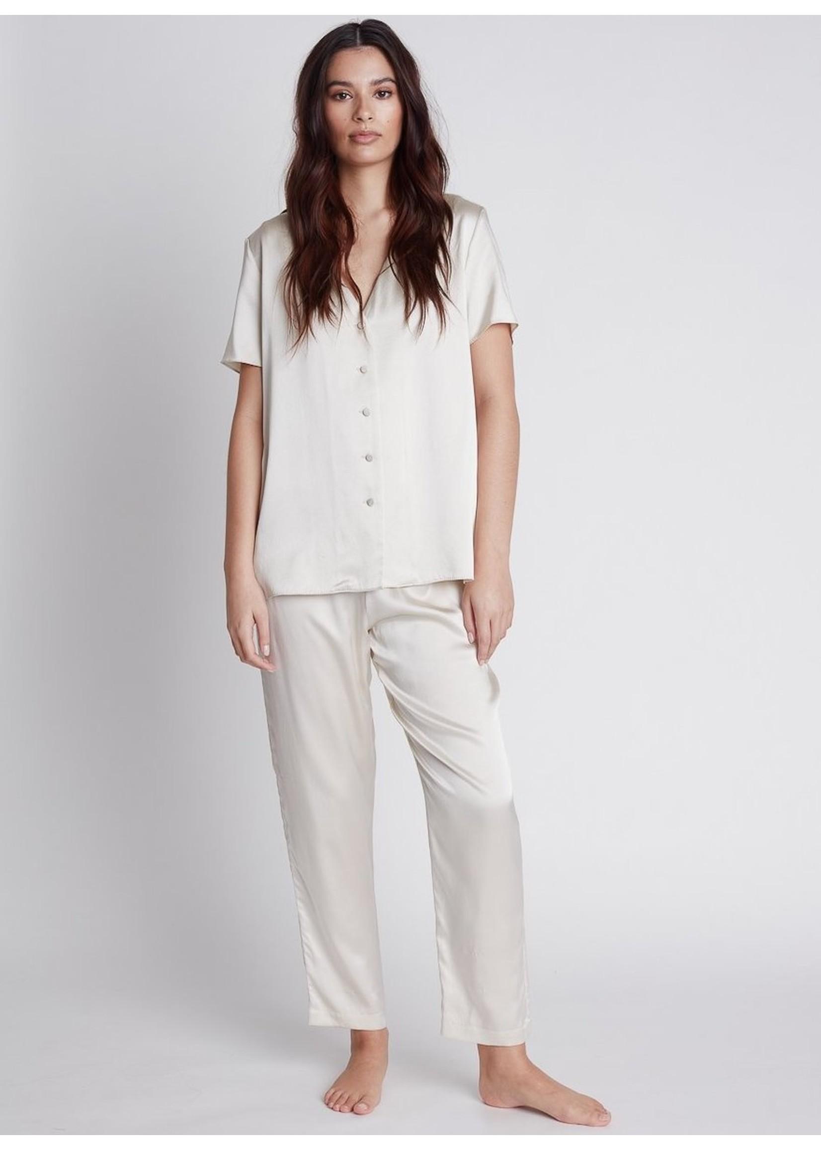 Nileta Silk Short Sleeve Button Ups