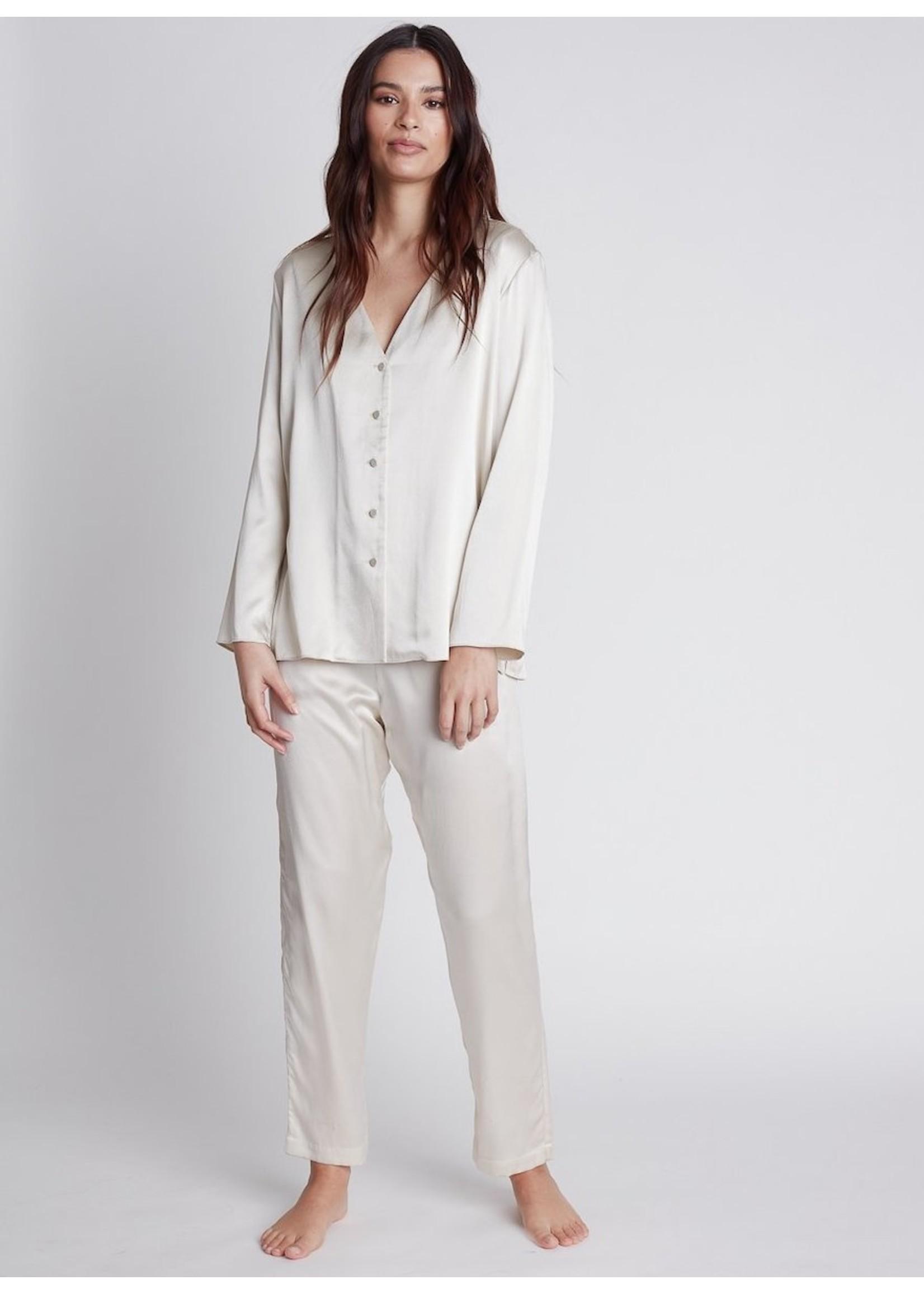 Nileta Silk Long Sleeve Button Ups