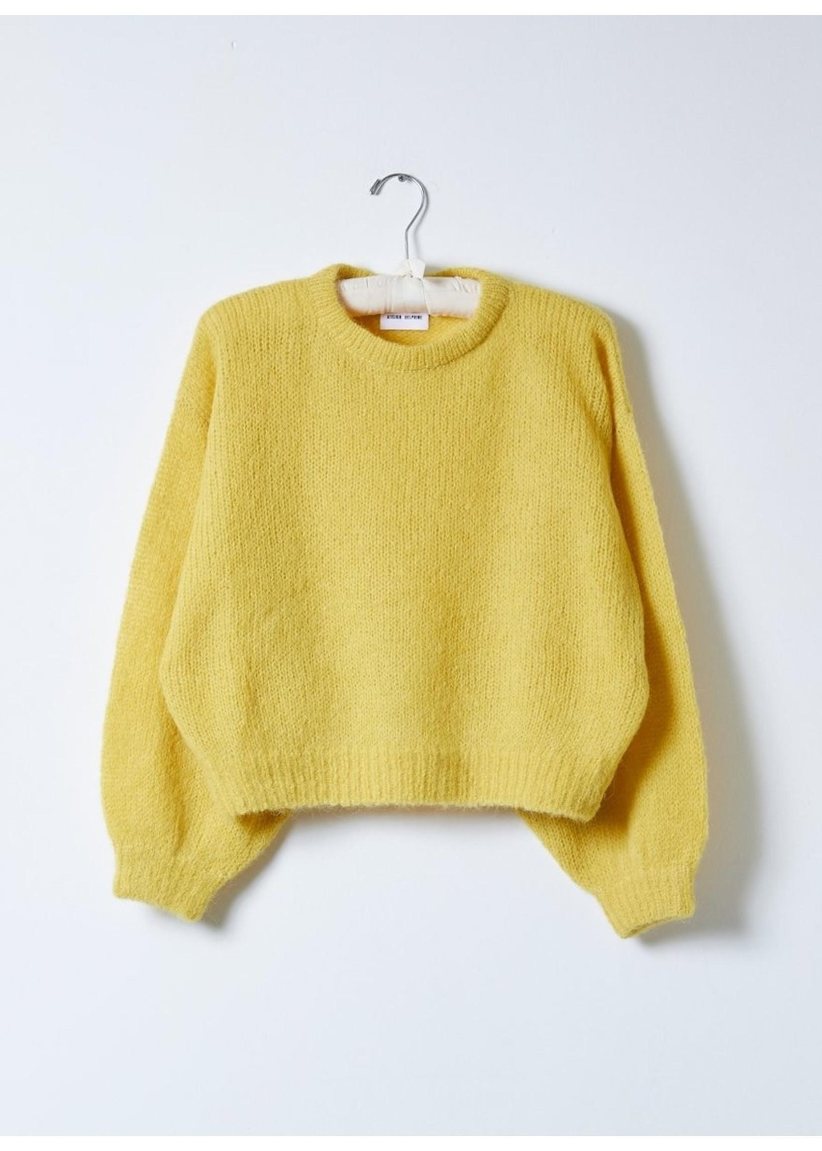 Atelier Delphine Atelier Delphine Dijon Balloon Sleeve Sweater