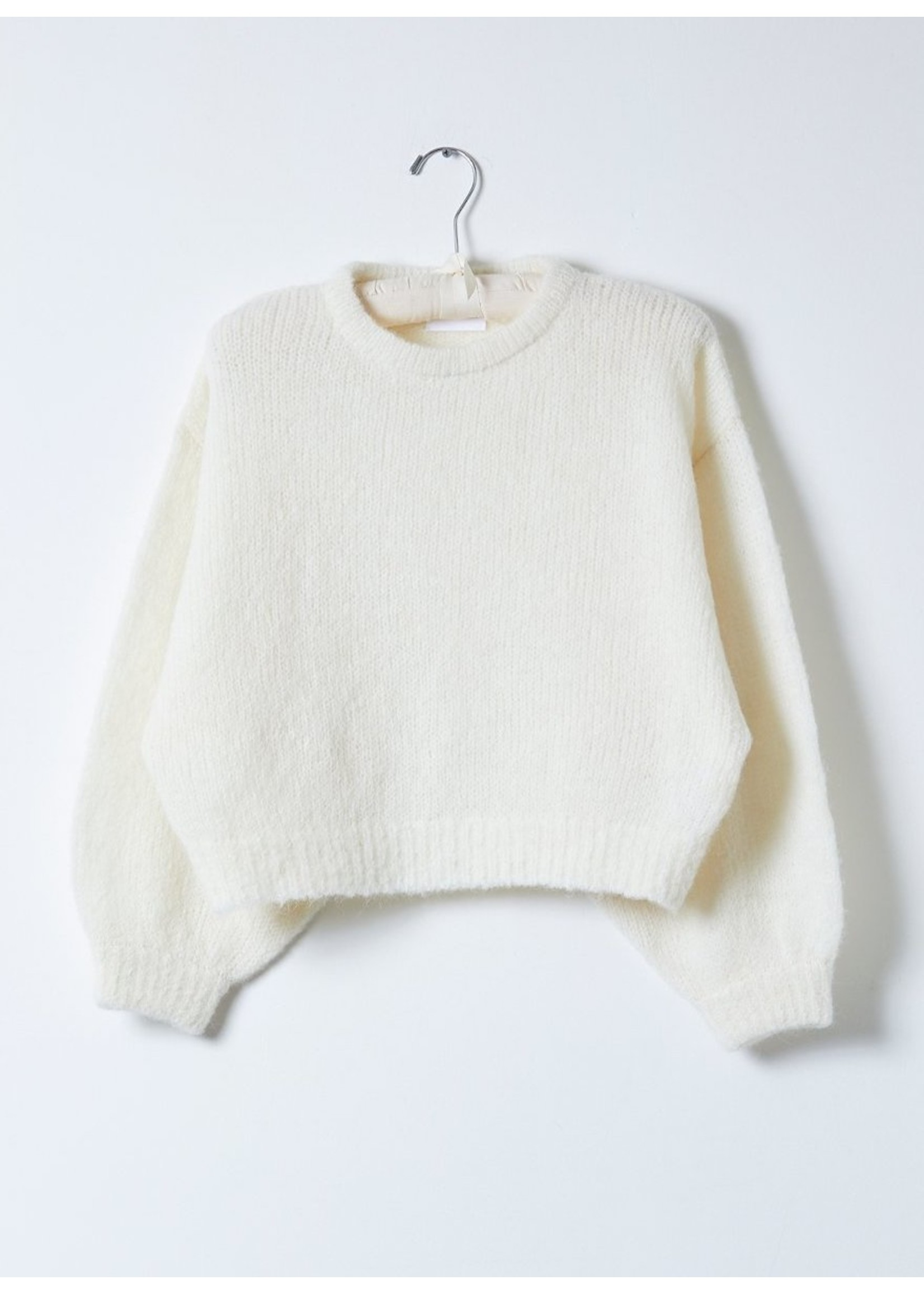 Atelier Delphine Atelier Delphine Cream Balloon Sleeve Sweater