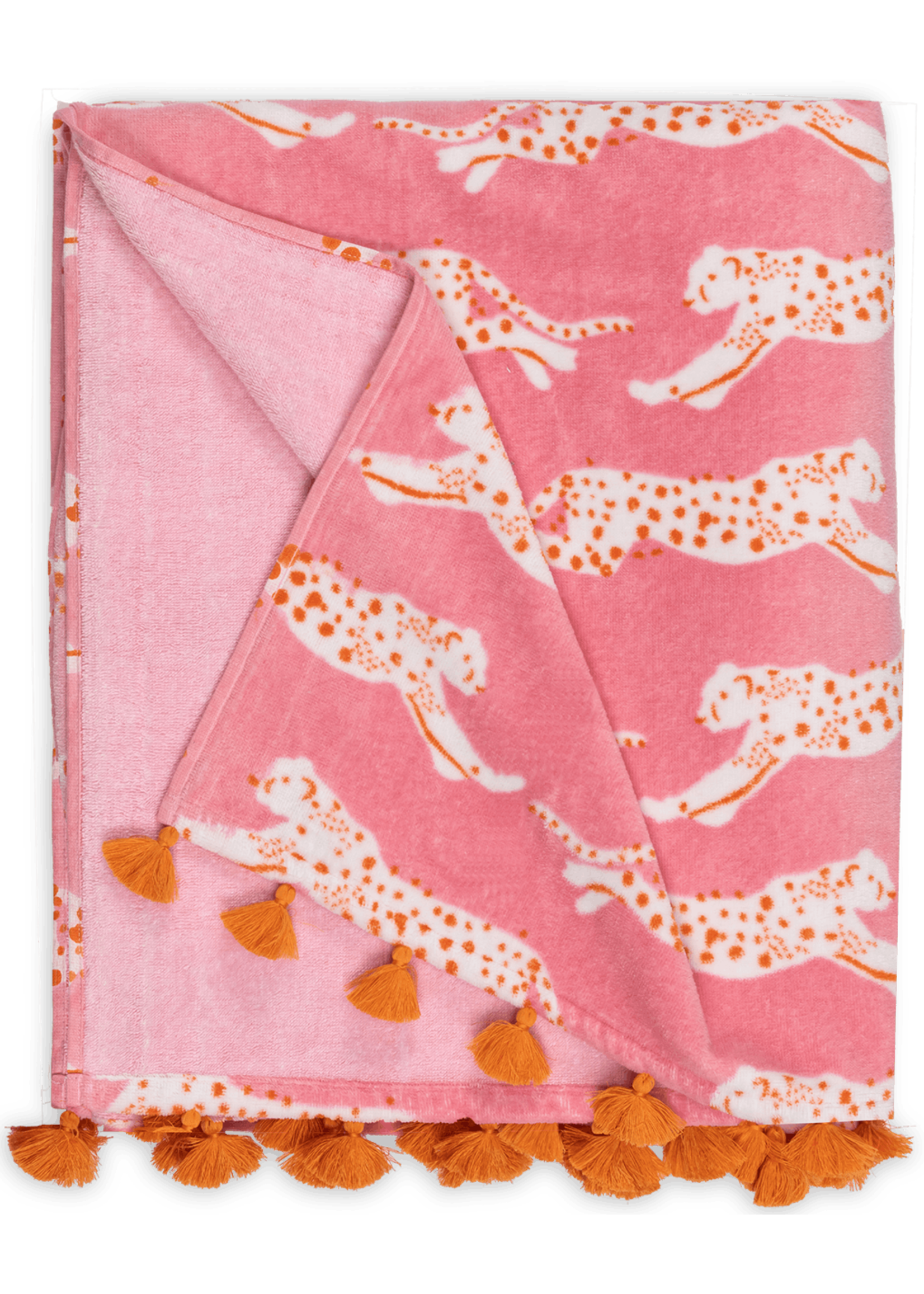 Matouk Matouk Leaping Leopard Beach Towels