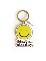 Idlewild Co. Smiley Keychain