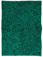 SAVED New York Cashmere Malachite Throw