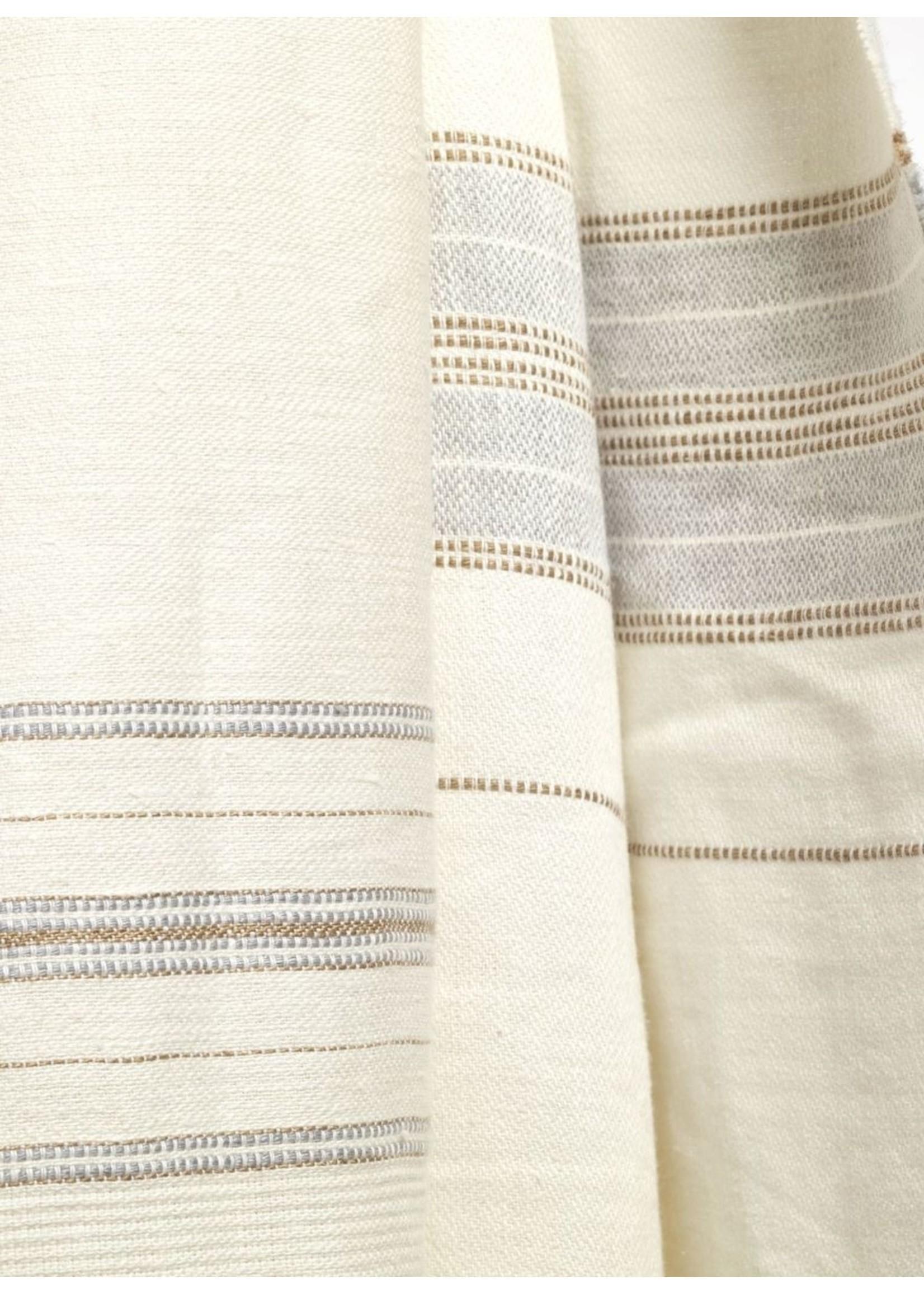 Libeco Libeco Propriano Multi Stripe Linen Coverlet