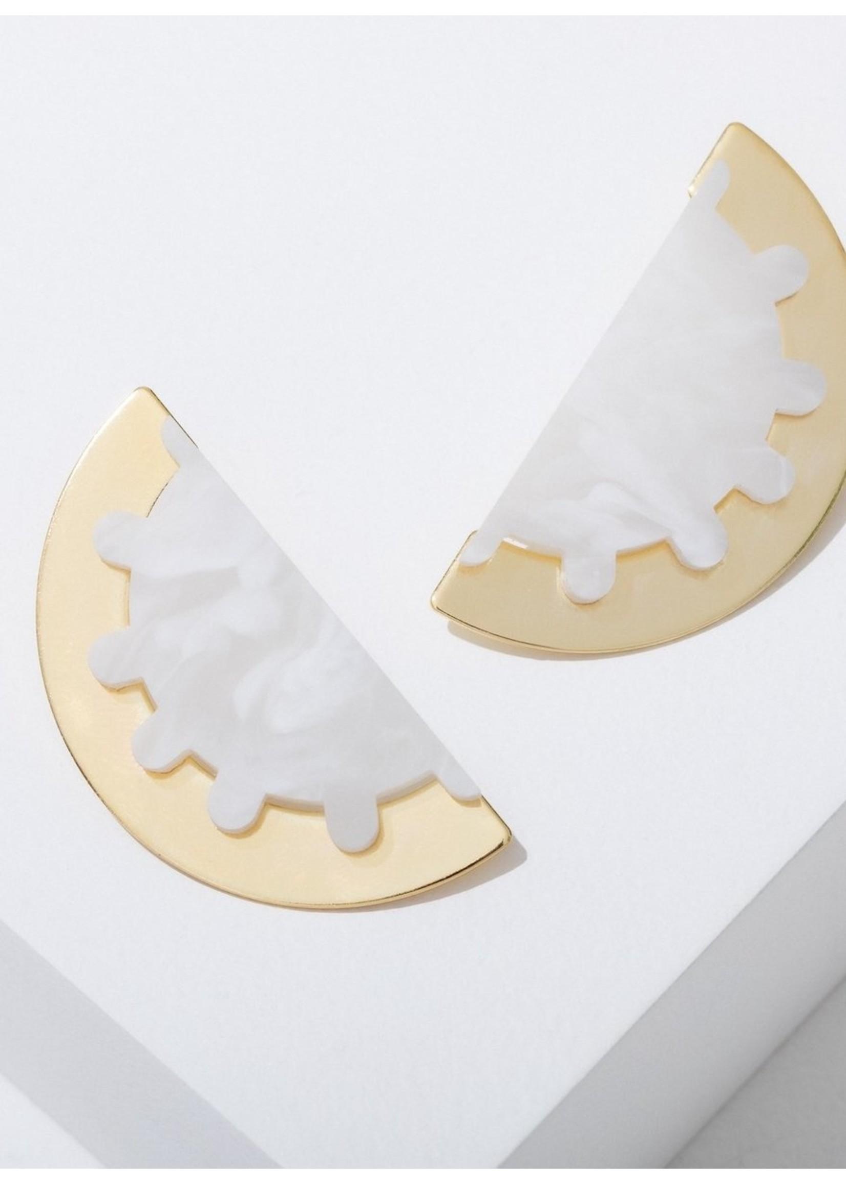 Larissa Loden Larissa Loden Styles Earrings (Gold/Alabaster)