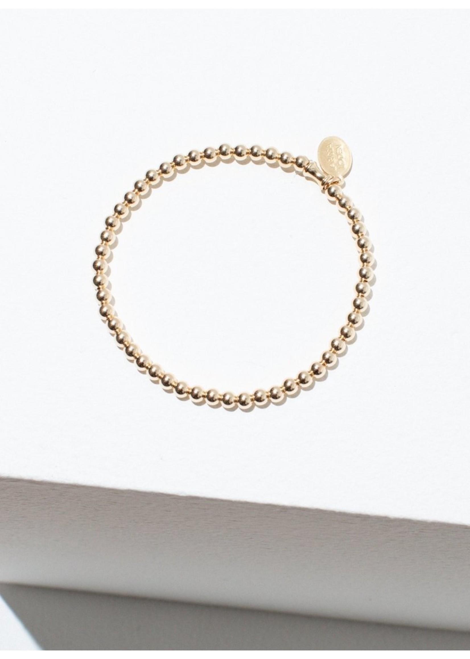 Larissa Loden Larissa Loden Single Beaded Gold Bracelet
