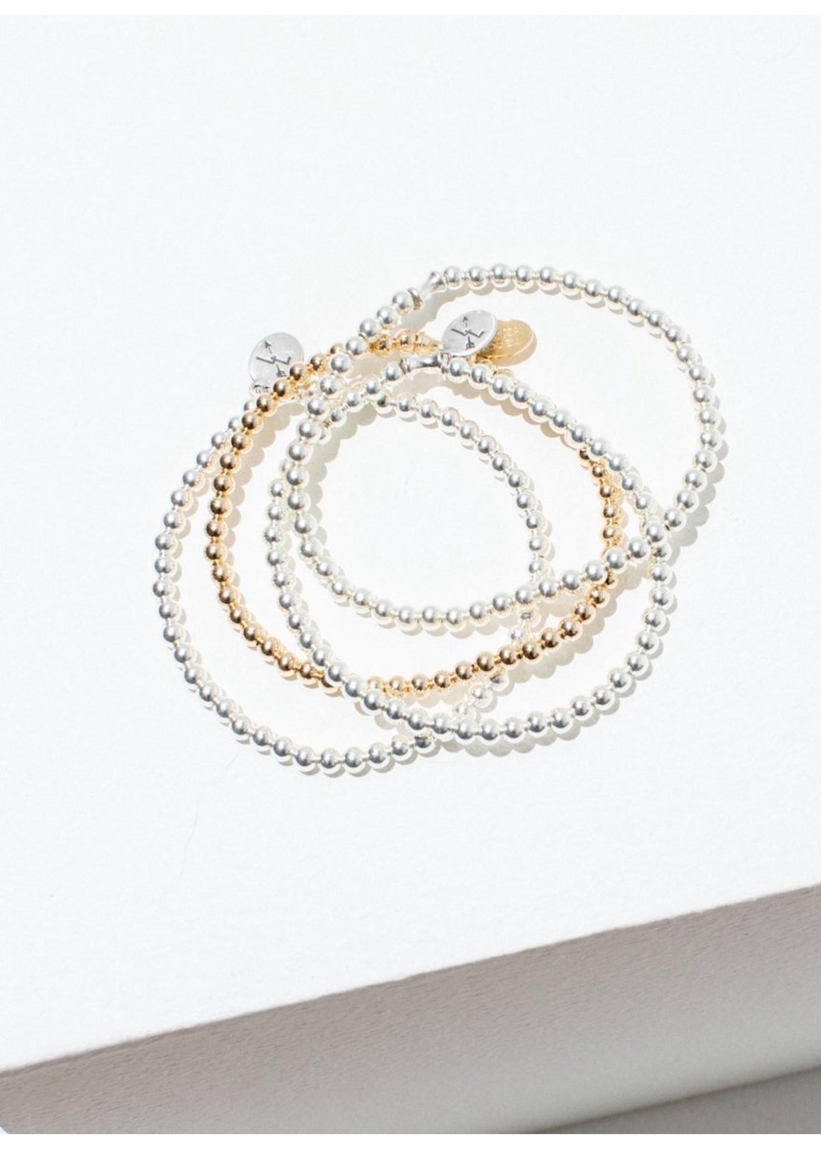 Larissa Loden Larissa Loden Single Beaded Silver Bracelet