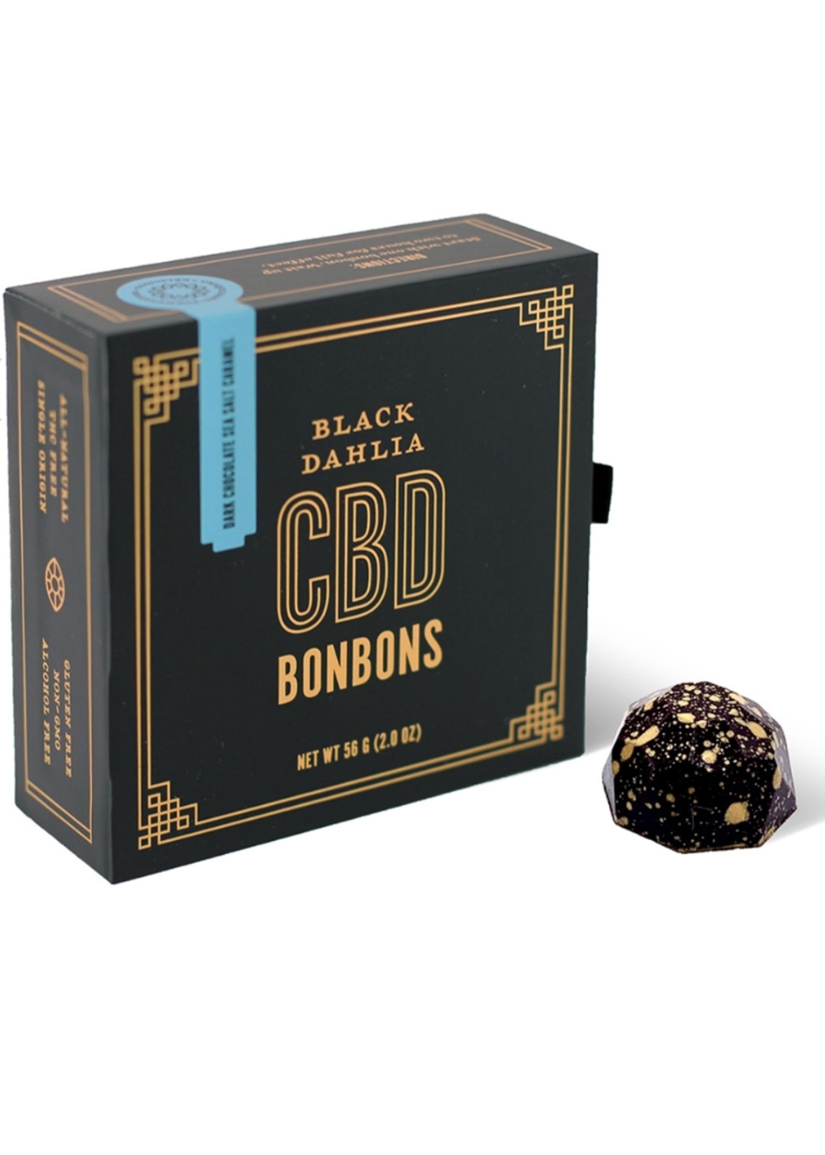 Black Dahlia CBD Botanicals Black Dahlia Dark Chocolate Sea Salt CBD Bonbons