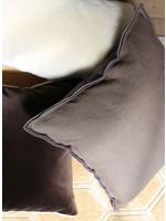 Designers Guild Brera Espresso & Coco Linen Pillow