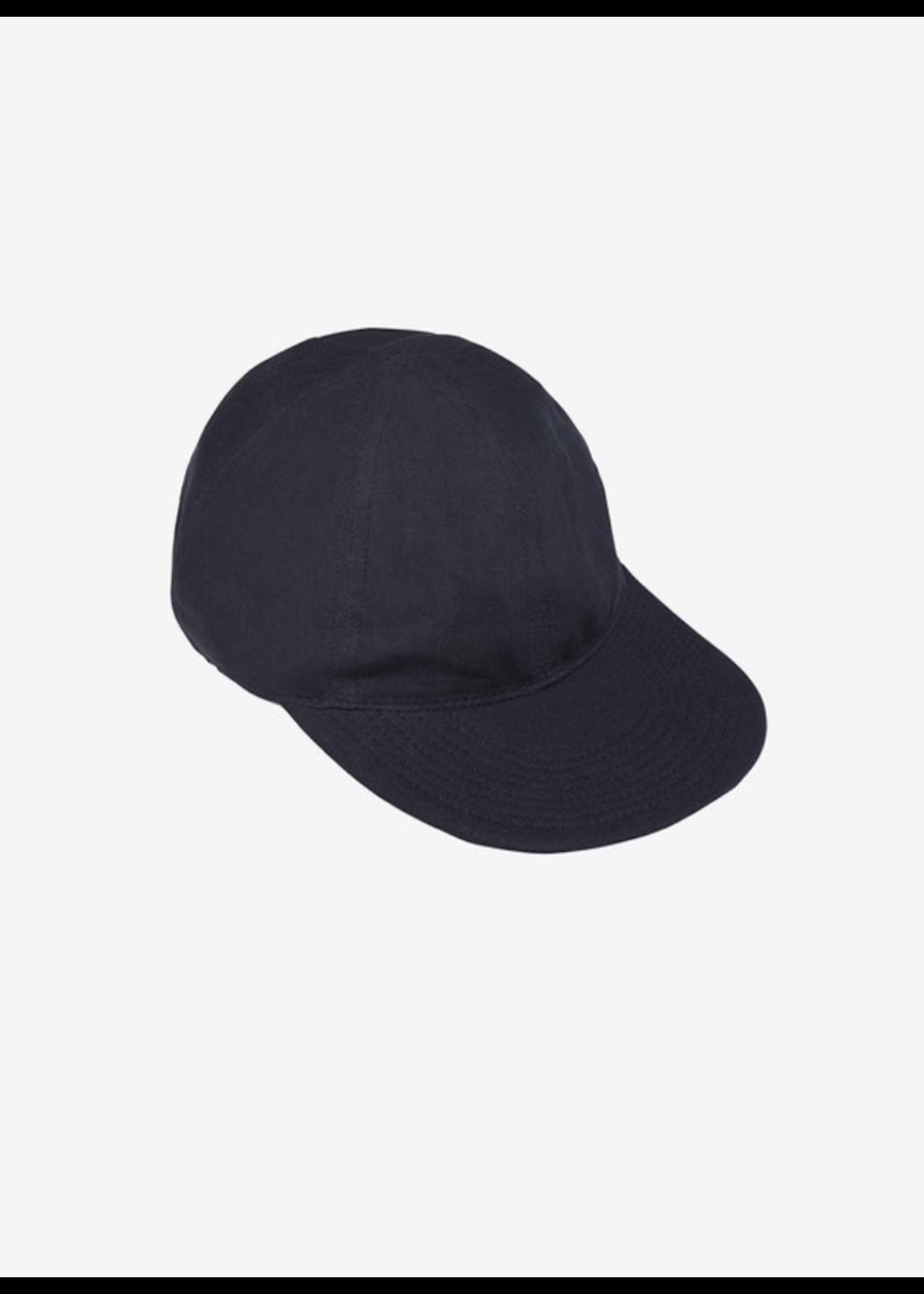 Blluemade Blluemade Navy Linen Ball Cap