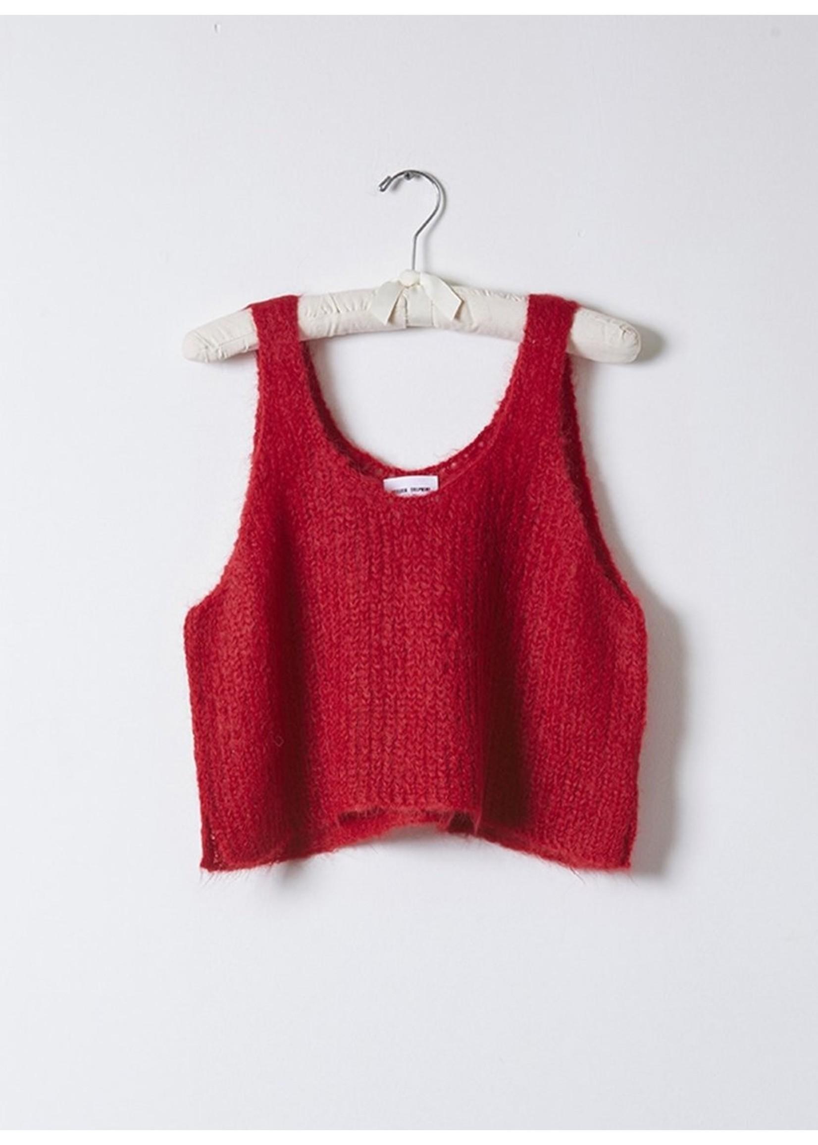 Atelier Delphine Atelier Delphine Ruby Red Sweater Tank