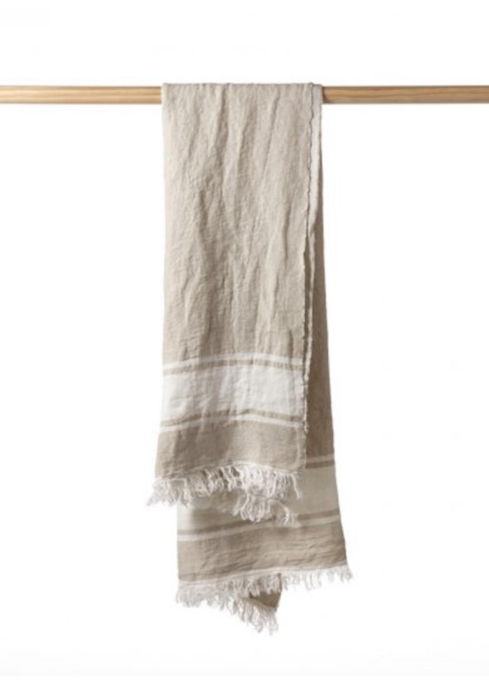 Libeco Libeco Flax Stripe Linen Towels