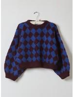 Atelier Delphine Entrelac Balloon Sleeve Sweater