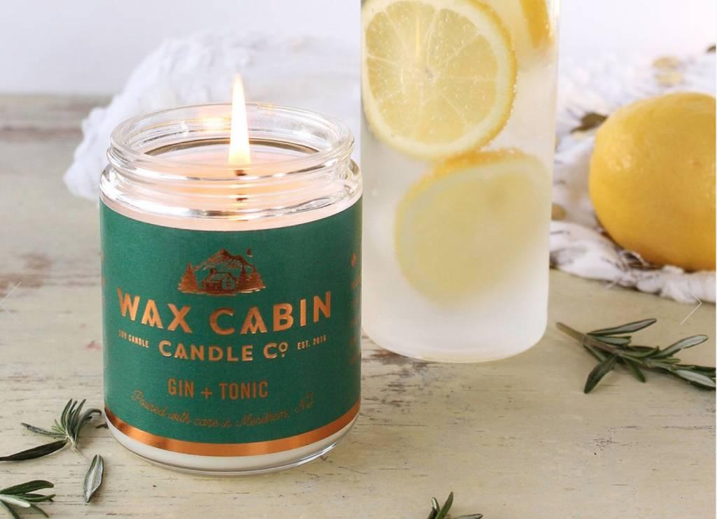 Wax Cabin Candle - Gin + Tonic