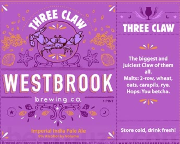Westbrook Three Claw (4pk 16oz cans)