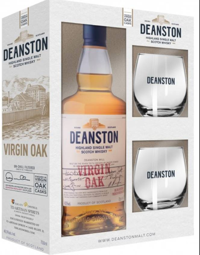 Deanston Virgin Oak Gift Pack 750ml