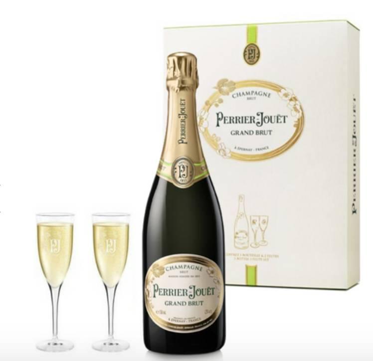 Perrier-Jouet Grand Brut Flute Gift Pack