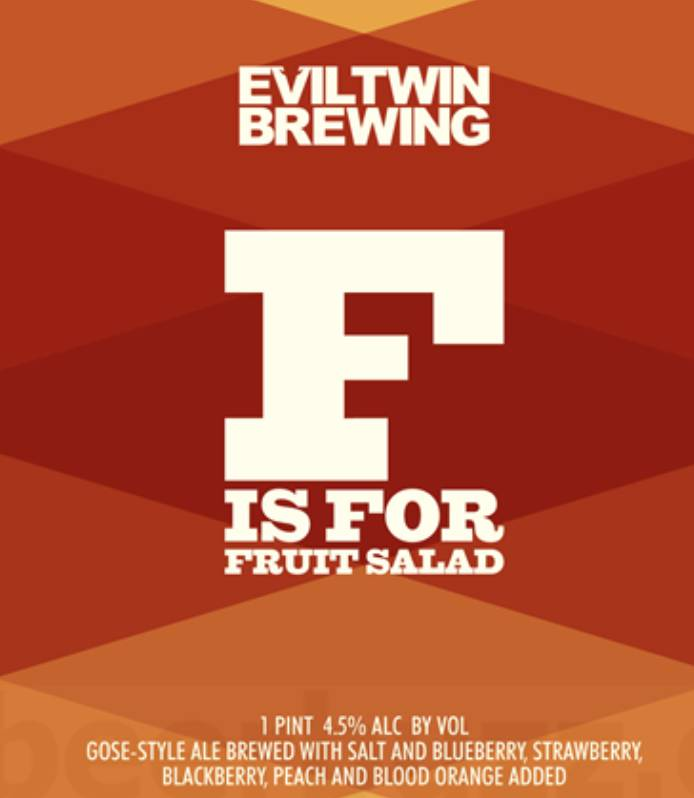 Evil Twin F is for Fruit Salad ( 4pk 16oz cans)