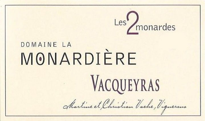 Monardiere Vacqueyras 2015