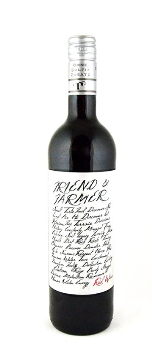 Friend and Farmer Vegan Red Wine 2017