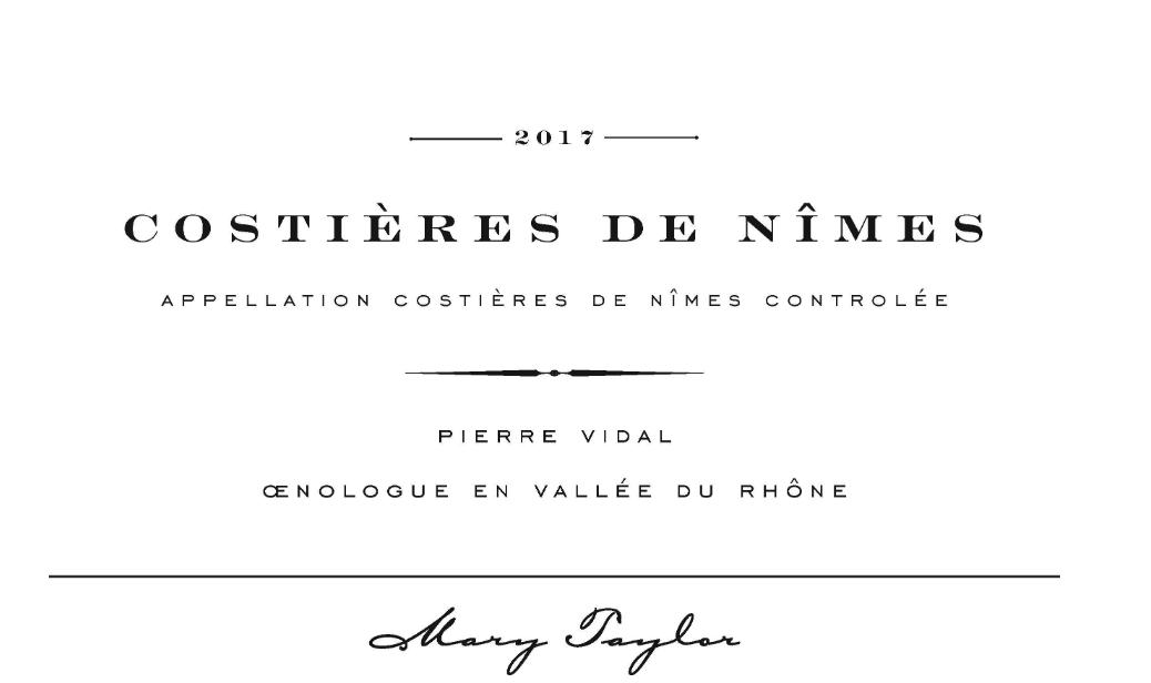 Mary Taylor 'Costieres De Nimes' 2017