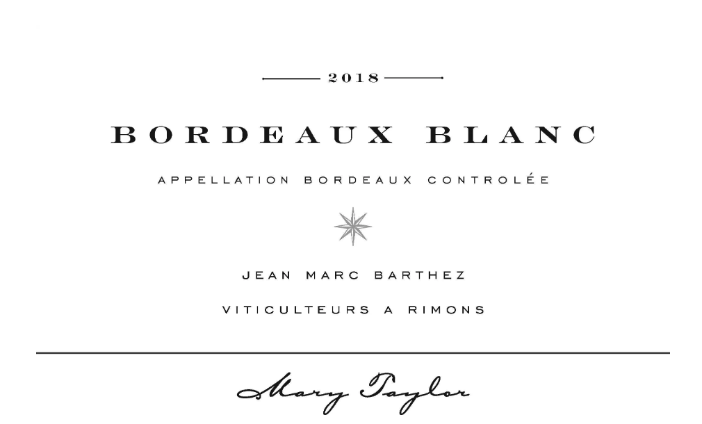 Mary Taylor Bordeaux Blanc 2018