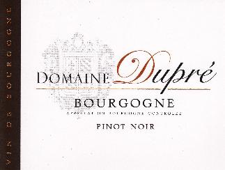 Domaine Dupre Bourgogne Pinot Noir 2017