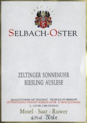 Selbach-Oster 'Zeltinger Sonnenhur' Riesling Ausele 2015