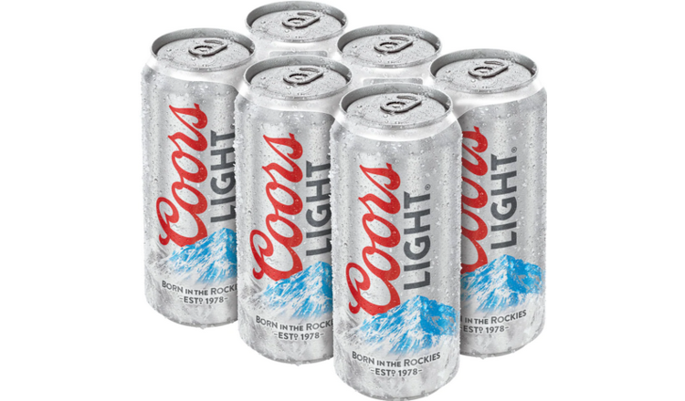 Coors Coors Light (6pk 12oz cans)