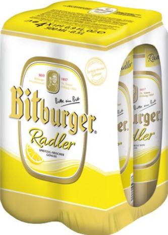 Bitburger Radler (4pk 16oz cans)