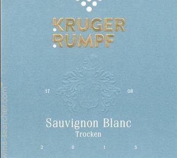 Kruger Rumpf Trocken Sauvignon Blanc 2015