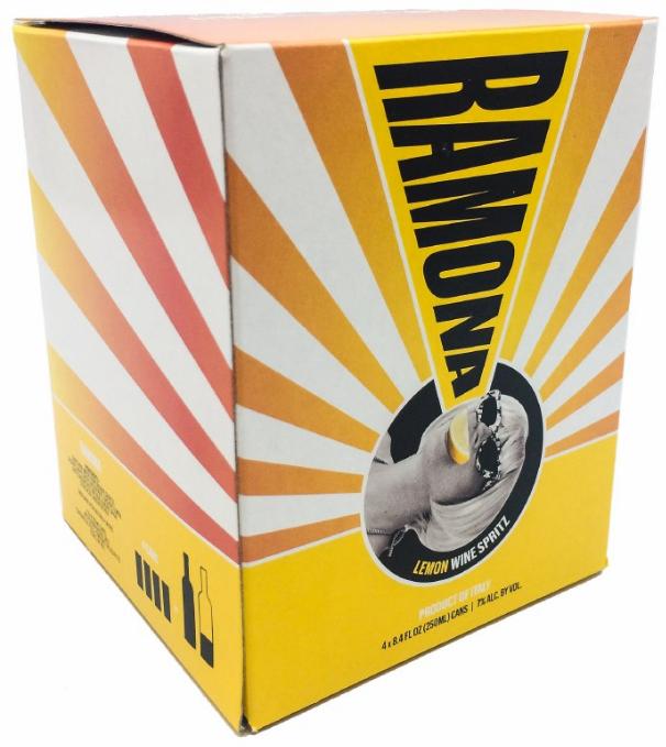 Ramona Lemon Organic Spritz (4pk 250ml cans)