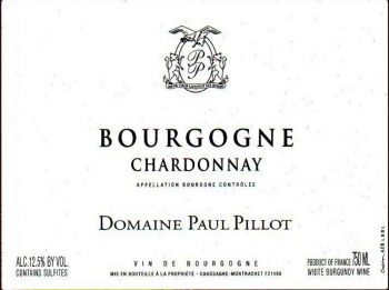 Domaine Paul Pillot Bourgogne Blanc Chardonnay 2017