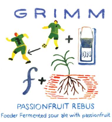 Grimm Passionfruit Rebus (16.9oz Bottle)