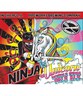 Pipeworks Pipeworks Ninja Vs Unicorn (4pk 16oz cans)