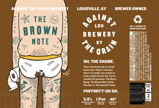 Against the Grain Brown Note (4pk 16oz cans)