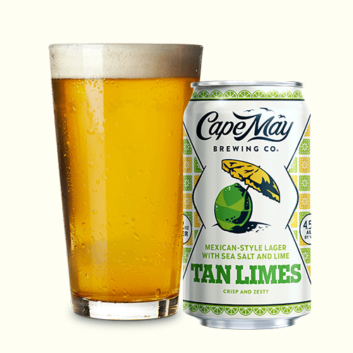 Cape May Tan Limes YD (6pk 12 oz cans)