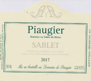 Piaugier Sablet CDR Blanc 2018