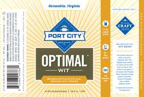 Port City Optimal Wit ( 4pk 16 oz cans)