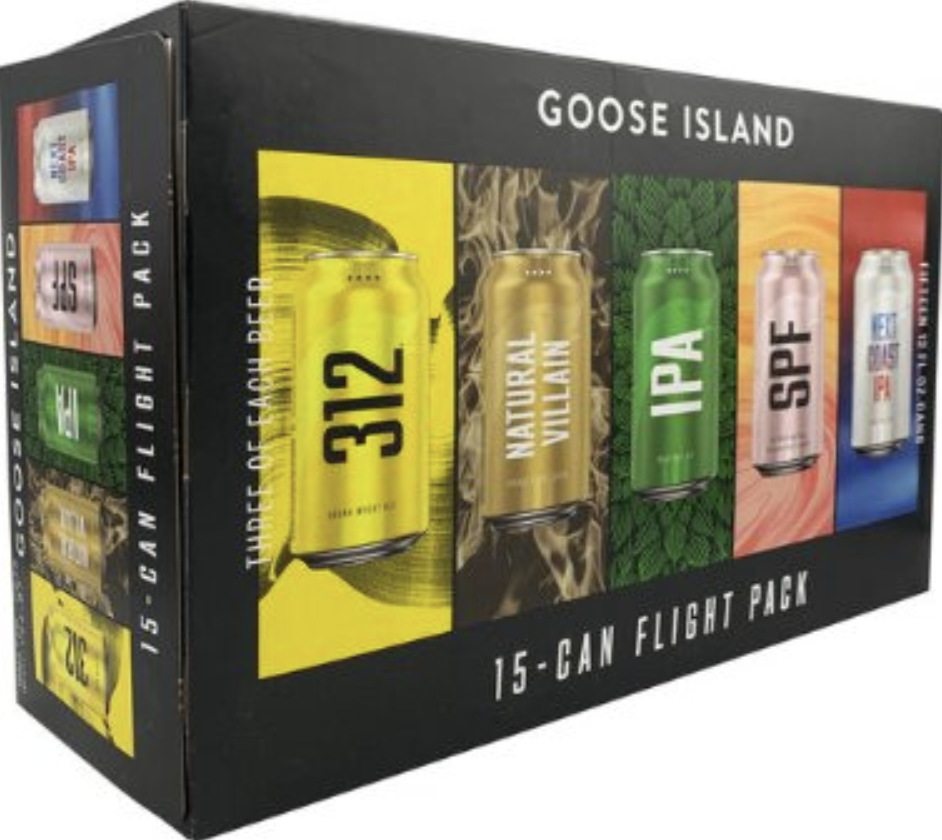 Goose Island Flight Pack (15 pk 12 oz cans)