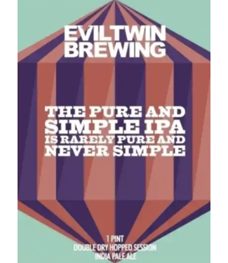 Evil Twin Evil Twin the Pure and Simple (4pk 16oz cans)