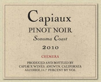 Capiaux Pinot Noir Chimera Sonoma Coast