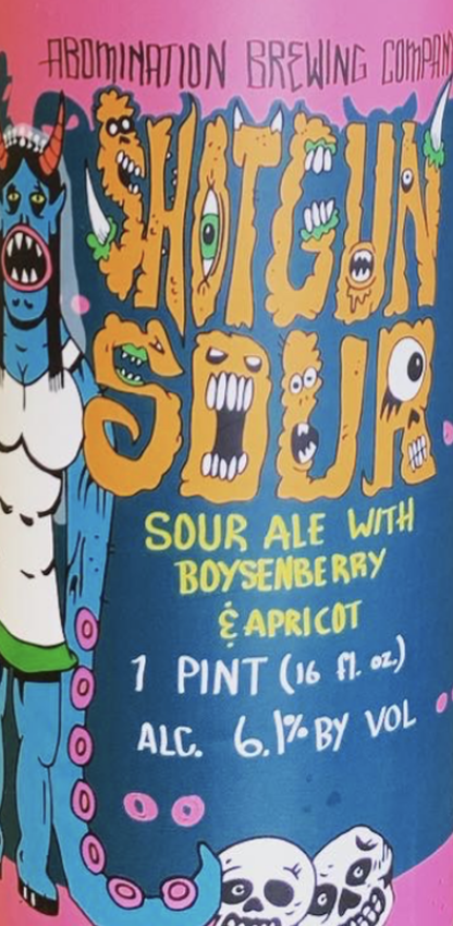 Abomination Brewing Boysenberry and Apricot Shotgun (4pk 16oz cans)