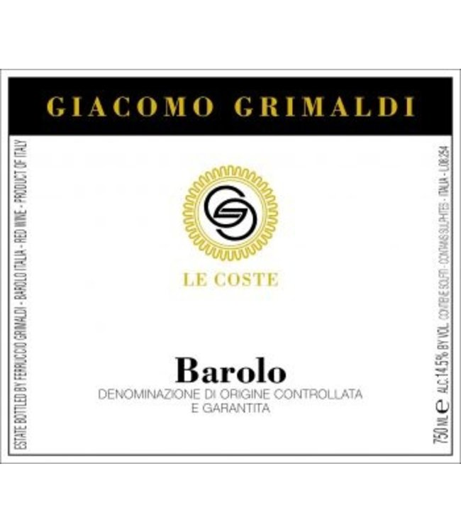Giacomo Grimaldi Barolo Le Coste 2013